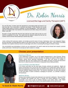 Dr. Robin Norris Speaker Brochure